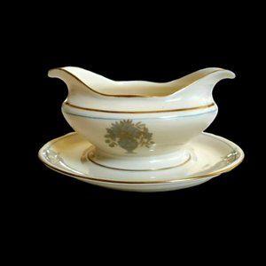 Castleton China DORSET Gravy Boat Attached Underpl